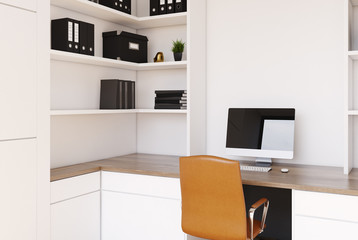 White CEO office interior