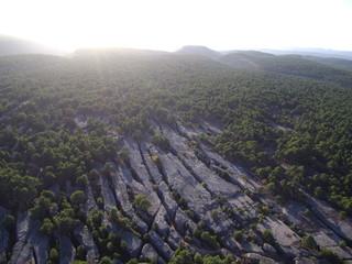 Ciudad Encantada de Cuenca. Paraje natural en Castilla la Mancha, España.  Bosque con Formaciones rocosas