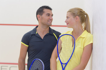 couple after a tenis game
