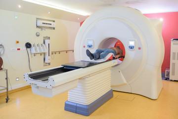 undergoing MRI examination