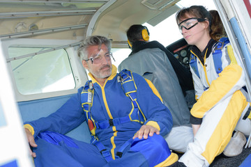 skydiver anxious for first jump