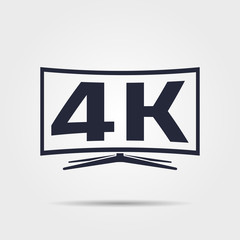 Vector 4k tv icon