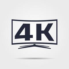 Vector 4k tv icon