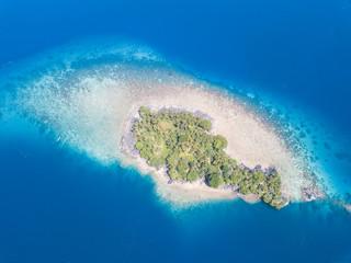Aerial View of Tropical Island in Banda Sea
