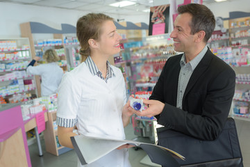 smiling pharmacy client