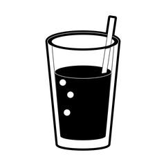 Delicious juice glass icon vector illustration graphic design