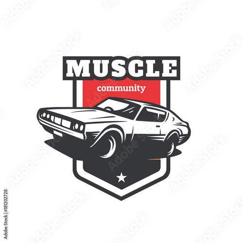 Muscle Car Logo Muscle Car Community Stock Image And Royalty Free