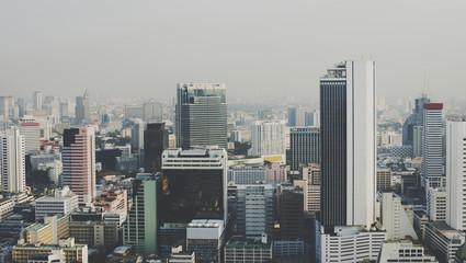Buildings in downtown metro city