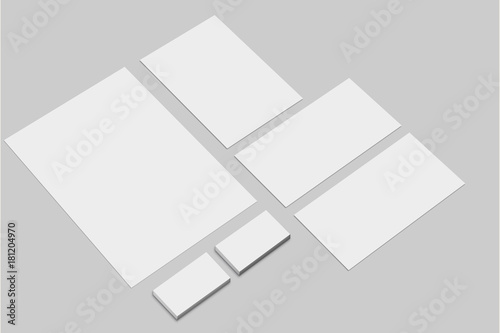 Corporate identity presentation template branding mockup set corporate identity presentation template branding mockup set letterhead envelope and business cards empty spiritdancerdesigns Images