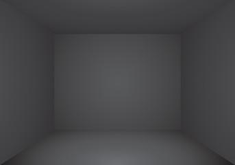 Black empty room perspective interior vector  illustration.