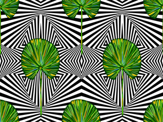 Seamless tropical summer pattern with leaves. Exotics. Vintage vector botanical illustration vector background. Perfect for wallpapers, pattern fills, web page backgrounds, surface textures, textile