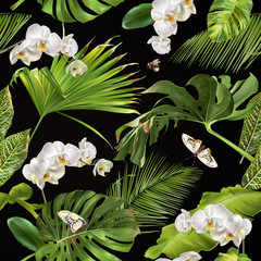 Tropical orchid pattern