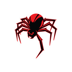 Mascot Redback spider vector illustration