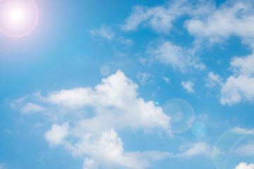 Summer sky on the beautiful day with clouds..