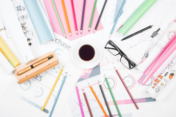 Stationery and marketing concept
