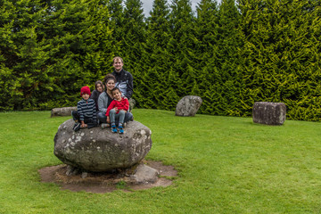 Family in the Stone Circle