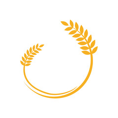 wheat food agriculture logo