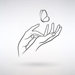 Vector Icon Female Hands