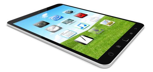 Modern digital tactile tablet 3D rendering