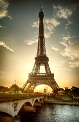 Fototapete - View on Eiffel Tower