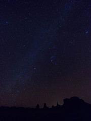 モニュメントバレーの星空
