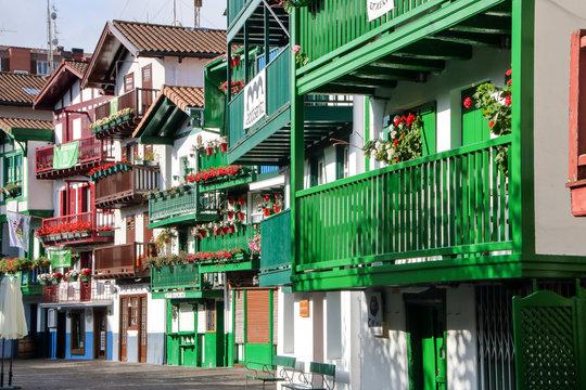colorful facades at Hondarribia