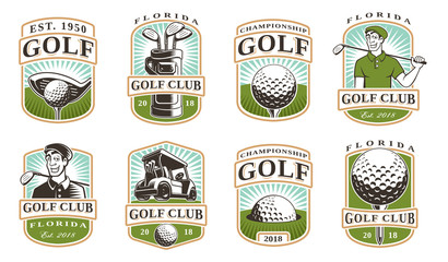 Golf vector set (12 logos)