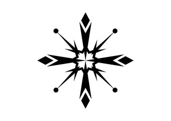 Cold Classic Snow Illustration Logo Symbol