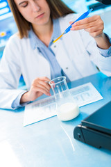 Quality control for processed foods. Dairy product research