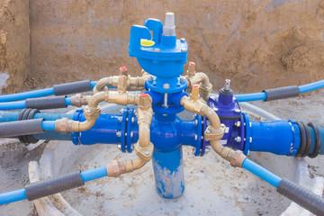 Wasserleitung - neuer Hydrant mit Absperrschieber und Hausanschlüssen