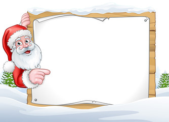 Santa Claus Christmas Sign Background