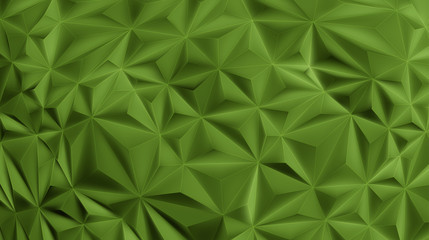 Green triangle geometric vector BG in 3D style