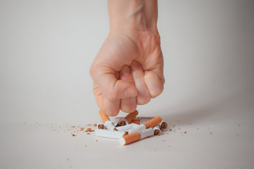 Concept for stop smoking cigarette and healthy lifestyle