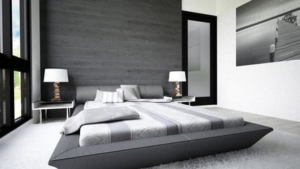 Modern bedroom with clean simple design