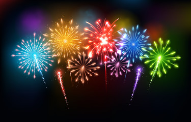 Colorful fireworks - Happy New Year