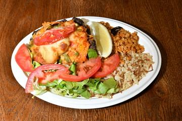 Arabic, orienta, fastood meal.