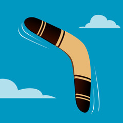 Australian boomerang vector illustration