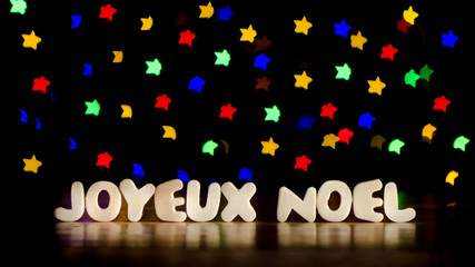 Joyeux Noel, merry christmas in French language