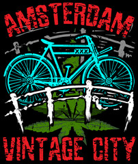 Amsterdam vector poster graphic design