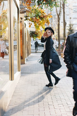 Fashionable girl in the street