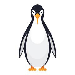 Standing penguin bird