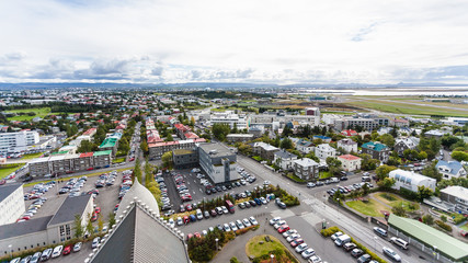 aerial view of Eiriksgata street in Reykjavi