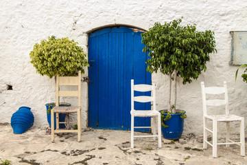Kreta, Chersonissos, Blaue Tür, Blue door,