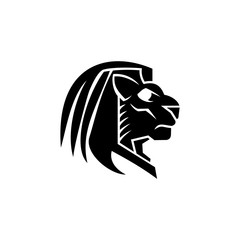 Lion head Mascot logo vector illustration