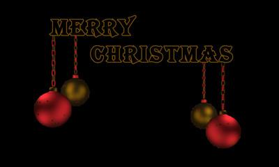 Christbaumkugeln Text Frohe Weihnachten in englisch.