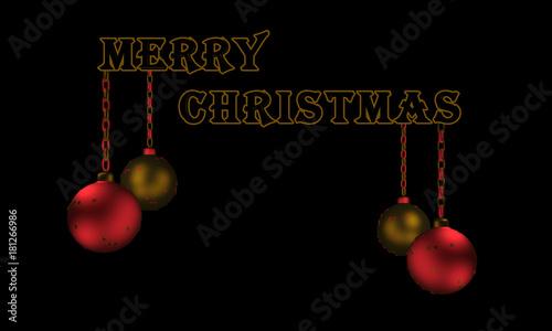 Frohe Weihnachten Englisch.Christbaumkugeln Text Frohe Weihnachten In Englisch Stockfotos Und