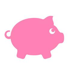 Money box silhouette icon