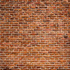 Red bricks wall texture, urban background