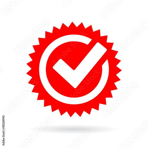 Red Tick Mark Icon Stockfotos Und Lizenzfreie Vektoren Auf Fotolia