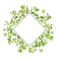 template with drawing clover leaves